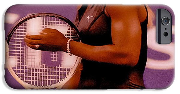 Wta iPhone Cases - Serena Williams Oh My iPhone Case by Brian Reaves