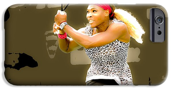 Wta Digital Art iPhone Cases - Serena Williams Standing Out iPhone Case by Brian Reaves