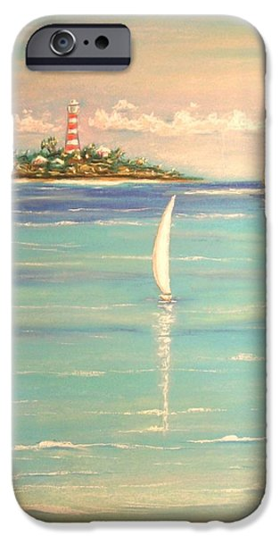 Lighthouse Pastels iPhone Cases - Serenade iPhone Case by The Beach  Dreamer