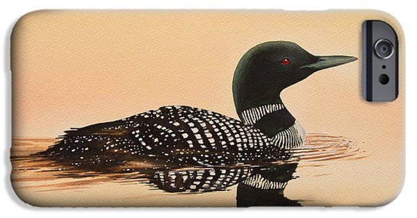 Loon iPhone Cases - Serene Beauty iPhone Case by James Williamson