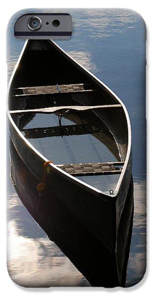 Serene Canoe with Sky iPhone Case by Renee Forth-Fukumoto