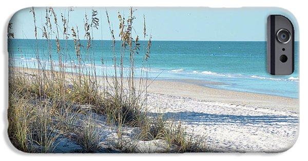 Sea Oats iPhone Cases - Serene Florida Beach Scene iPhone Case by Rebecca Brittain