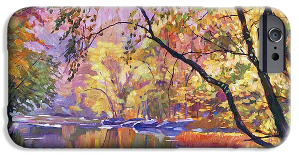 Painterly iPhone Cases - Serene Reflections iPhone Case by David Lloyd Glover