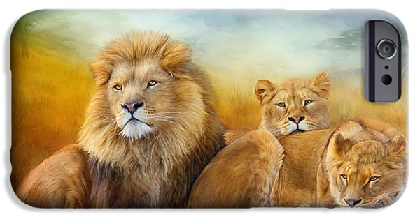 Lion Print iPhone Cases - Serengeti Pride iPhone Case by Carol Cavalaris