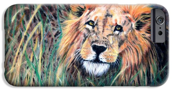 Children Pastels iPhone Cases - Serengeti Ruler iPhone Case by Carol McCarty