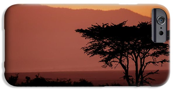 Safari iPhone Cases - Serengeti Sunset iPhone Case by Sebastian Musial