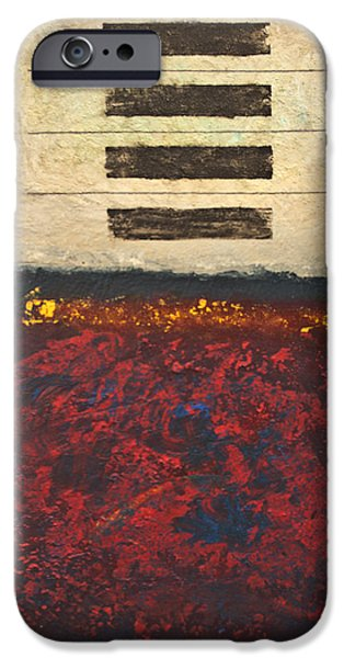 Representative Abstract Mixed Media iPhone Cases - Serenity and Chaos iPhone Case by Lloyd Knowles