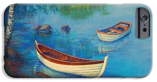Transportation Pastels iPhone Cases - Serenity Cove iPhone Case by Tanja Ware