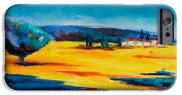 Provence Village iPhone Cases - Serenity iPhone Case by Elise Palmigiani