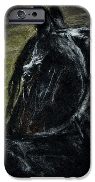 Horse Tapestries - Textiles iPhone Cases - Serenity Horse iPhone Case by Kyla Corbett