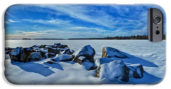 New England Snow Scene iPhone Cases - Serenity in Snow iPhone Case by Bill Caldwell -        ABeautifulSky Photography