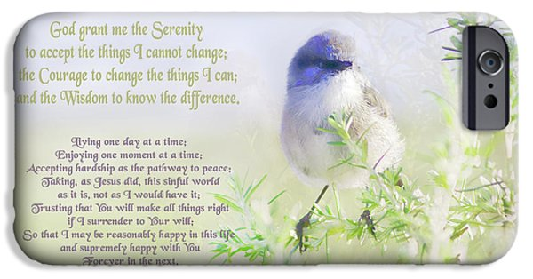 Religious Digital iPhone Cases - Serenity Prayer iPhone Case by Holly Kempe