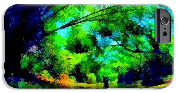 Painter Photo Mixed Media iPhone Cases - Serenity River Rafter iPhone Case by Mario Carini