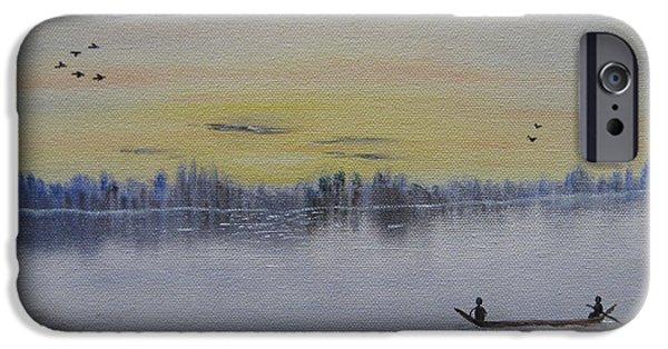 Bob Ross Paintings iPhone Cases - Serenity iPhone Case by Sayali Mahajan
