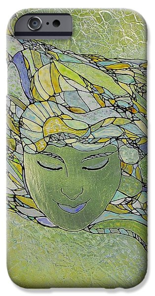 Surrealism Glass iPhone Cases - Serenity iPhone Case by Teresa Young