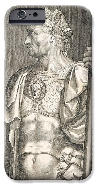 Wreath Paintings iPhone Cases - Sergius Galba Emperor of Rome  iPhone Case by Titian