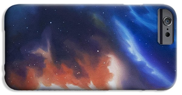 Black Hole Paintings iPhone Cases - Seria Nebula iPhone Case by James Christopher Hill