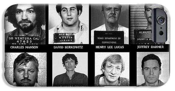 Best Sellers -  - Police iPhone Cases - Serial Killers - Public Enemies iPhone Case by Paul Ward