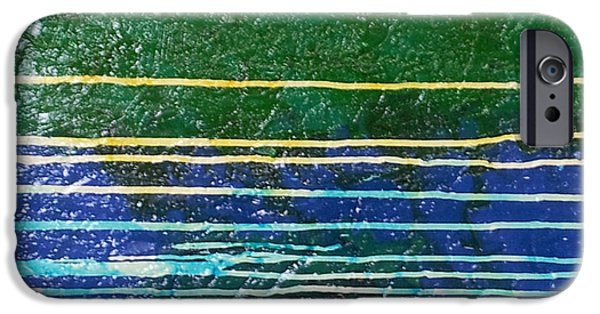 Representative Abstract Mixed Media iPhone Cases - Series 24x24 no. 9 iPhone Case by Lloyd Knowles