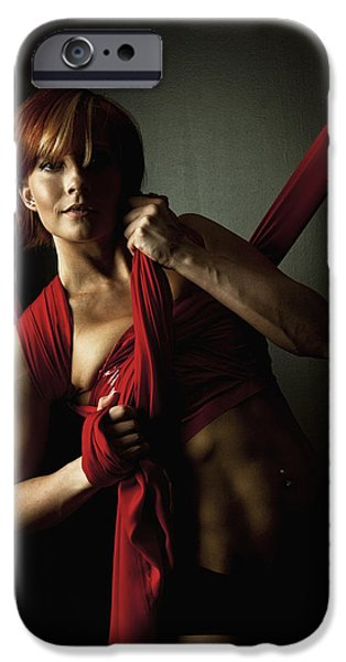 Empower iPhone Cases - Series in Red Silk Knot iPhone Case by Monte Arnold