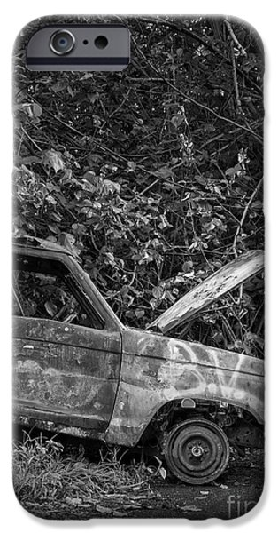 Raining iPhone Cases - Serious car trouble in the tropics iPhone Case by Edward Fielding