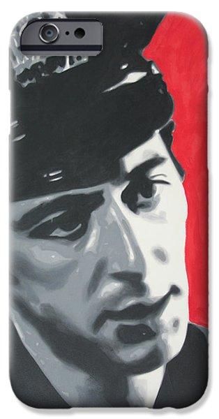 Al Pacino iPhone Cases - Serpico 2013 iPhone Case by Luis Ludzska