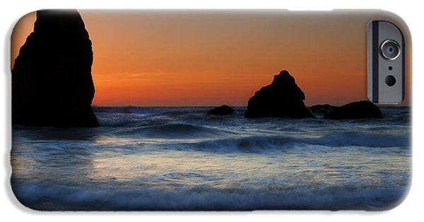 Ocean Sunset iPhone Cases - Set Against the Tides iPhone Case by Mike  Dawson