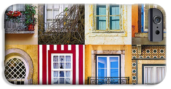 Balcony iPhone Cases - Set of Windows iPhone Case by Carlos Caetano
