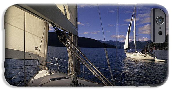 Bc Inside Passage iPhone Cases - Setting Sail iPhone Case by Bob Christopher