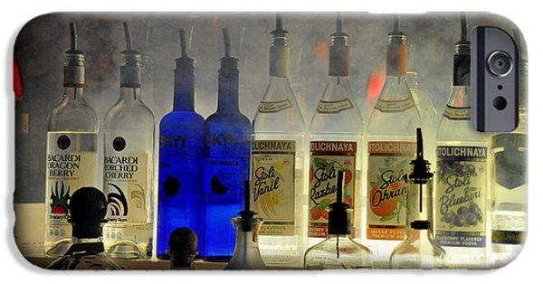 Wine Bottles iPhone Cases - Setting The Mood  iPhone Case by Gary Keesler