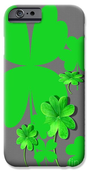 Multimedia iPhone Cases - Seven Clovers iPhone Case by Tina M Wenger