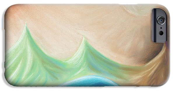 Abstractions Pastels iPhone Cases - Seven days of creation - the fourth day iPhone Case by Pal Szeplaky