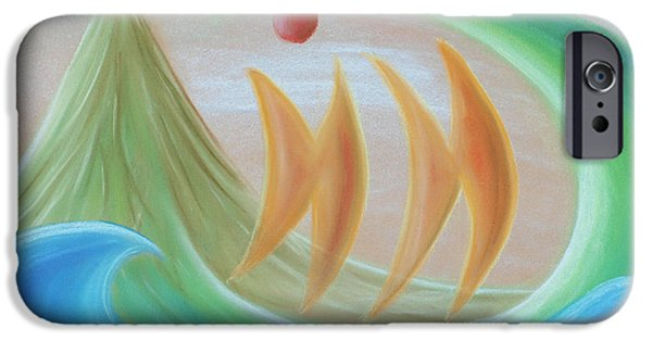 Abstractions Pastels iPhone Cases - Seven days of creation - The Sixth day iPhone Case by Pal Szeplaky