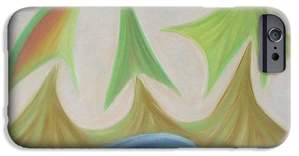 Abstractions Pastels iPhone Cases - Seven days of creation  - The Third day iPhone Case by Pal Szeplaky