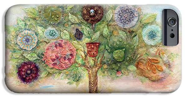 Ancient Paintings iPhone Cases - Seven Fruits iPhone Case by Michoel Muchnik