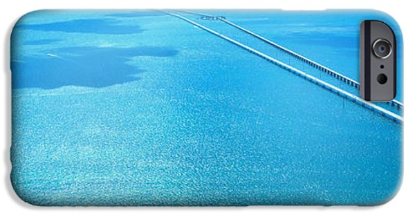 Connection iPhone Cases - Seven Miles Bridge Florida Keys Fl Usa iPhone Case by Panoramic Images