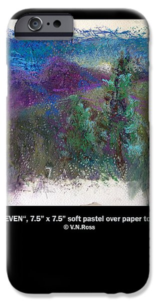 Mixed Media Pastels iPhone Cases - Seven iPhone Case by Vicki Ross