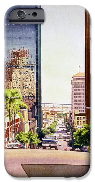 Seventh Avenue in San Diego iPhone Case by Mary Helmreich