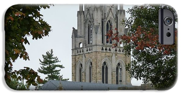 The Plateaus Mixed Media iPhone Cases - Sewanee Chapel iPhone Case by Ron Hayes