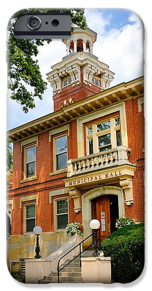 Sewickley Pennsylvania Municipal Hall iPhone Case by Amy Cicconi