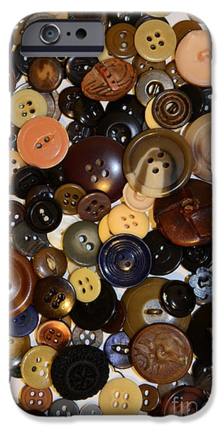 Mending iPhone Cases - Sewing - Buttons and More Buttons iPhone Case by Paul Ward