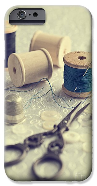 Sewing iPhone Cases - Sewing Cotton iPhone Case by Amanda And Christopher Elwell