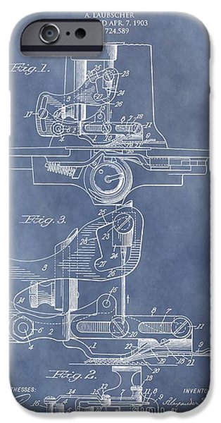 Revolution Mixed Media iPhone Cases - Sewing Machine Patent iPhone Case by Dan Sproul