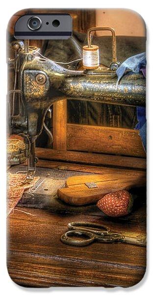 Sewing Machine  - Sewing Machine III iPhone Case by Mike Savad