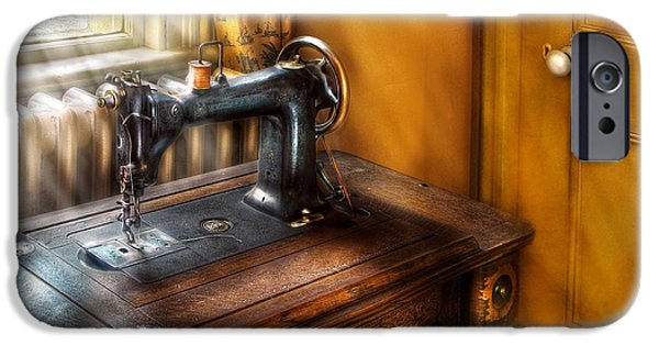 Mending iPhone Cases - Sewing Machine  - The Sewing Machine  iPhone Case by Mike Savad