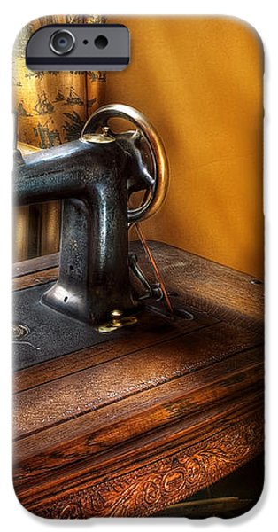 Sewing Machine  - The Sewing Machine  iPhone Case by Mike Savad