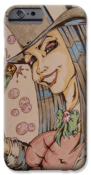 Mad Hatter iPhone Cases - Sexy Hatter iPhone Case by Michael Toth