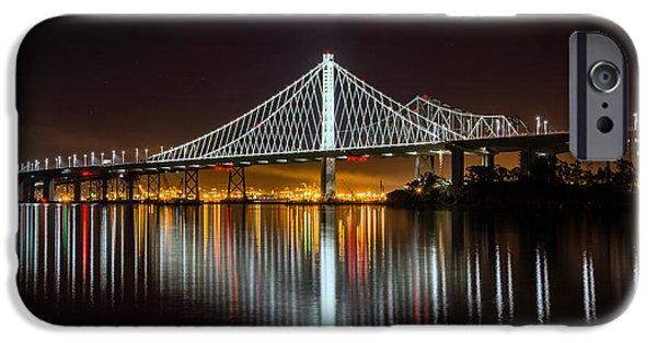 Bay Bridge iPhone Cases - SF Bay Bridge iPhone Case by Mike Ronnebeck