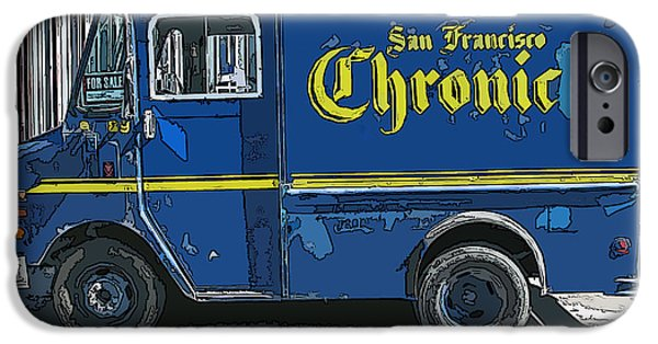 Sam Sheats iPhone Cases - SF Chronic Truck for Sale iPhone Case by Samuel Sheats