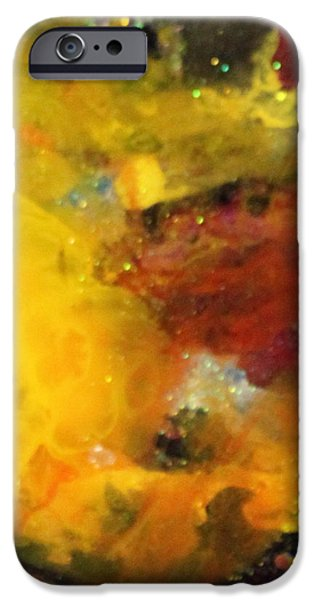 Splashy Paintings iPhone Cases - Sg1002 iPhone Case by Kathleen Fowler